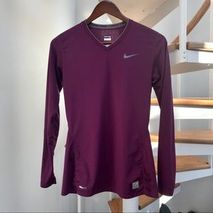 Nike Pro Fitted Workout Long Sleeve Shirt